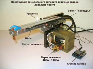 Аппарат точечной сварки своими руками Строительный портал
