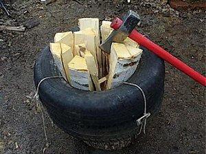 Приспособление для колки дров своими руками 571