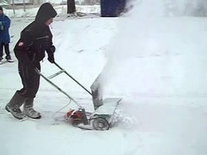 Снегоуборщик можно сделать также из штиля