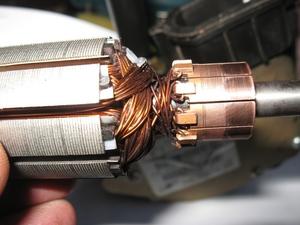 Как отремонтировать электродвигатель перфоратора