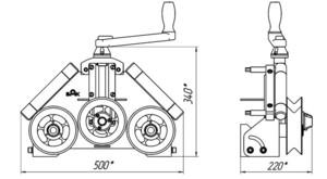 Трубогиб для профильной трубы своими руками чертежи фото сборки 1