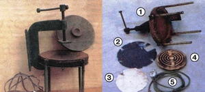 Вулканизатор также можно сделать из струбцины и электроплитки
