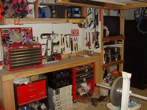 Угловой верстак для гаража своими руками 157
