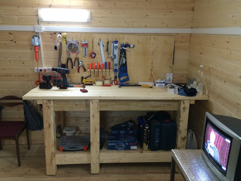 Как собрать слесарный верстак для гаража самостоятельно