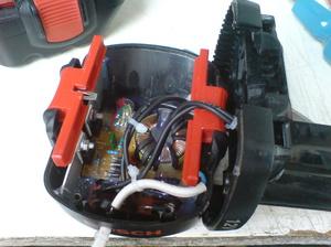 Блок питания состоит из нескольких аккумуляторов.
