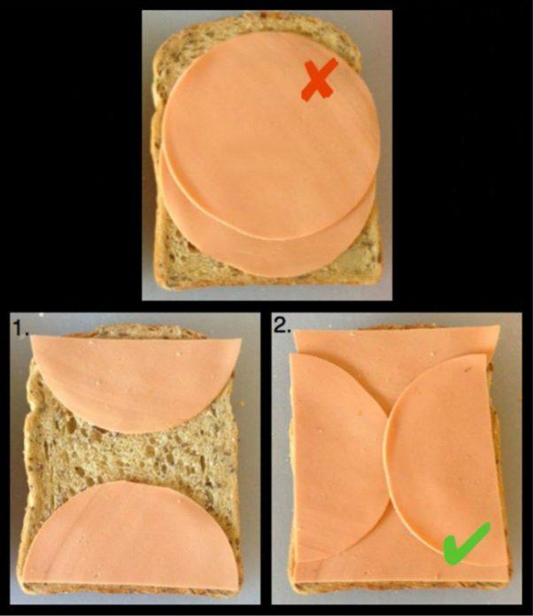 Как правильно делать бутерброд