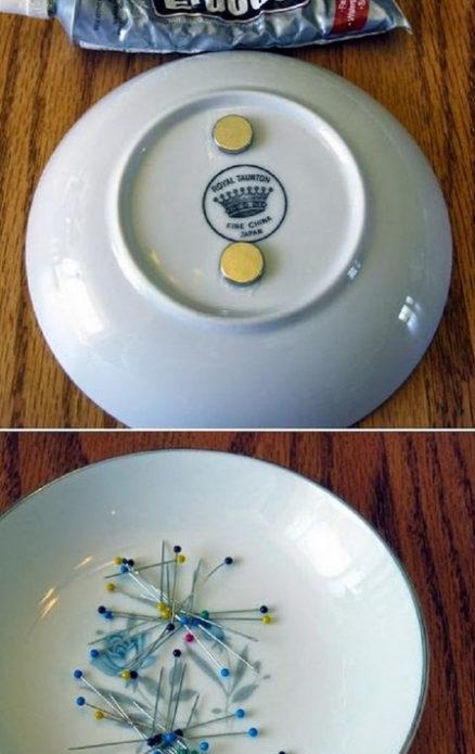 Блюдечко с магнитами для булавок