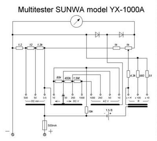 Схема цифрового мультиметра