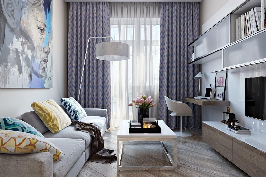 «Просторно и светло» – 6 секретов дизайнеров при оформлении маленькой гостиной