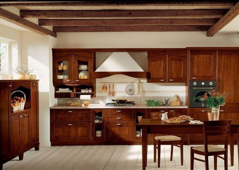 Кухня в деревянном стиле