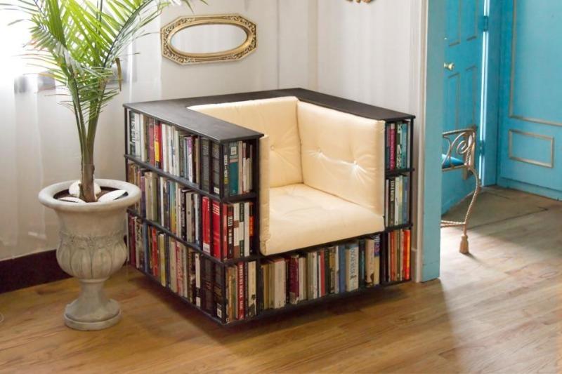 Где хранить книги, если мало места: 8 идей + фото
