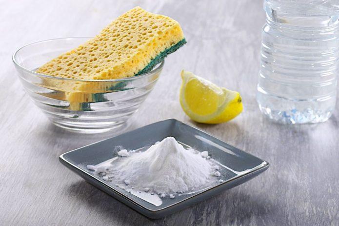 лимон от жировых пятен
