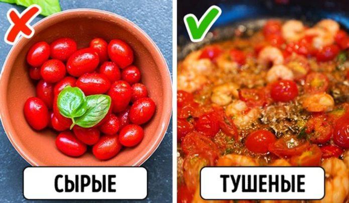 Как правильно есть помидоры