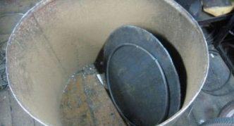Металлическая бочка для бетономешалки