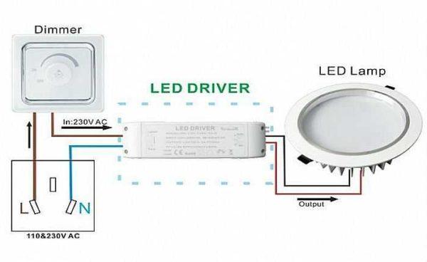 Схема подключения вариатора к светодиодной ленте